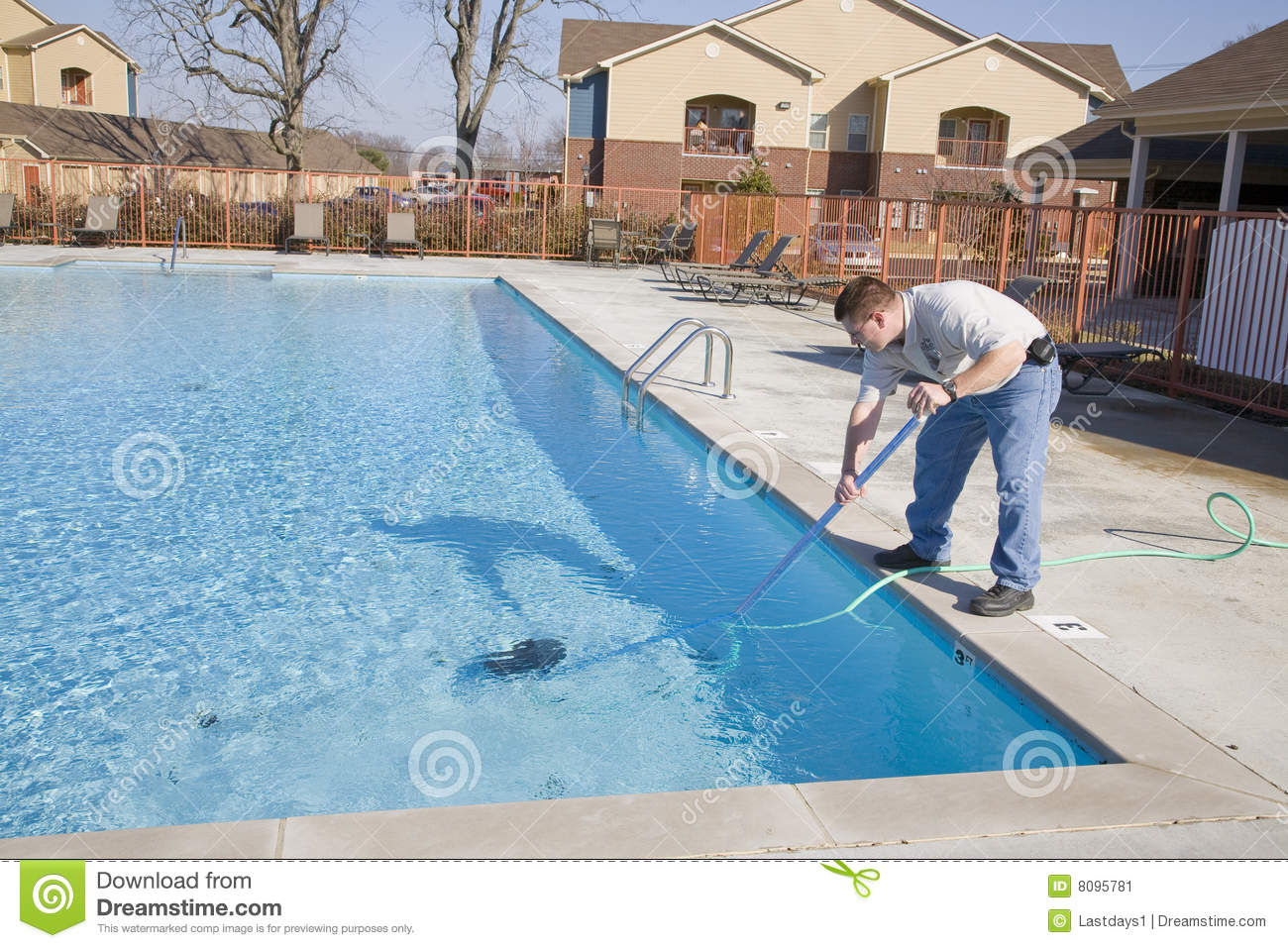 Swimming Pool Repair And Maintenance : Swimming pool service stock image of work