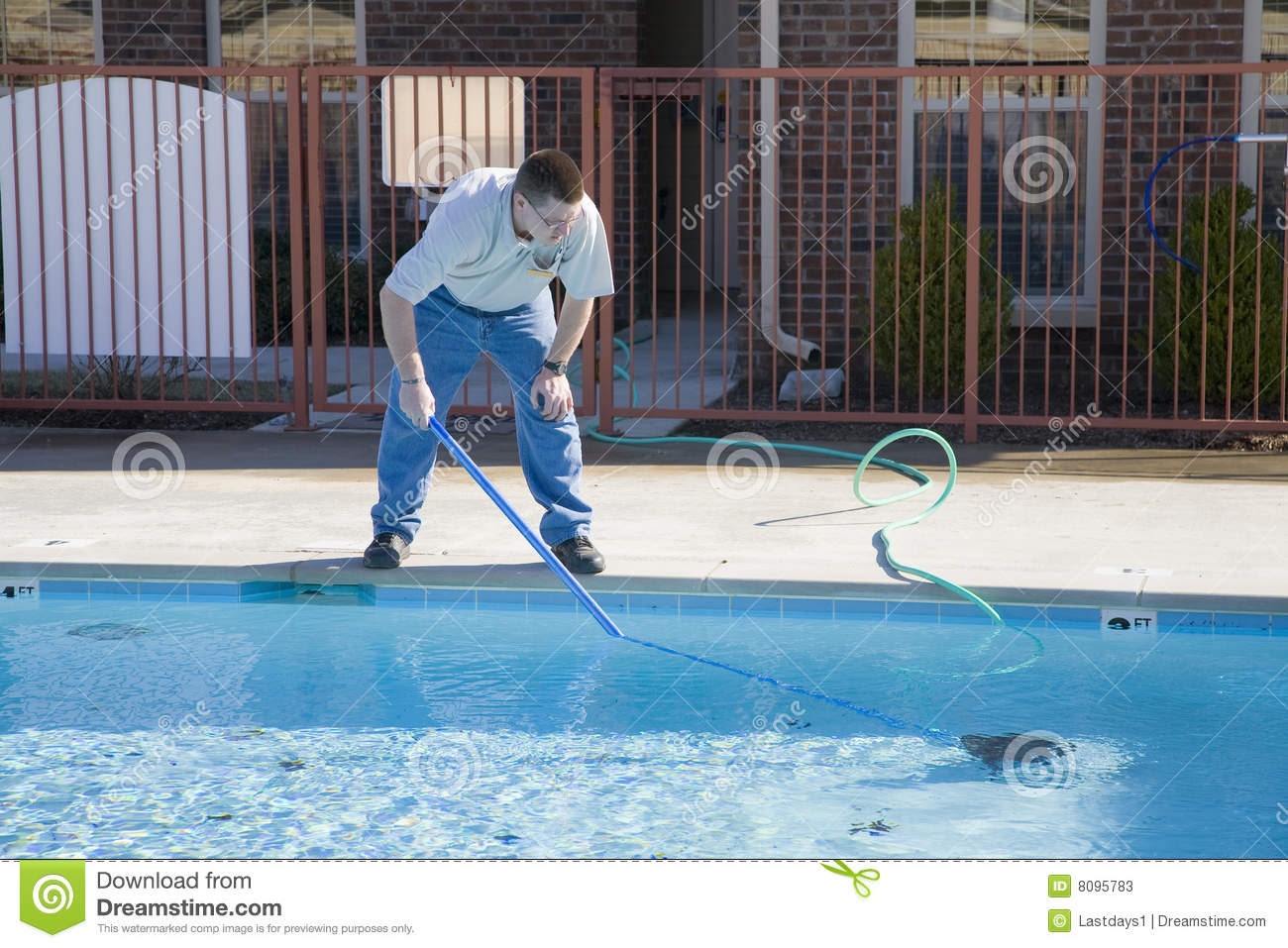 Swimming pool service stock image image of sanitary for Pool maintenance