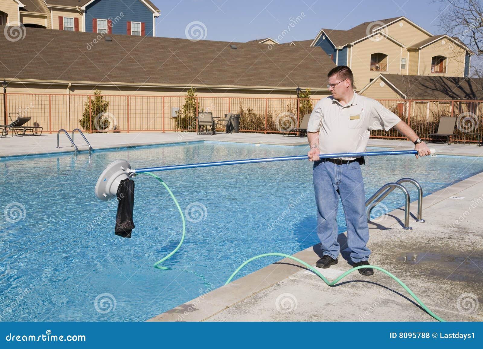 Swimming Pool Service Royalty Free Stock Photos Image 8095788