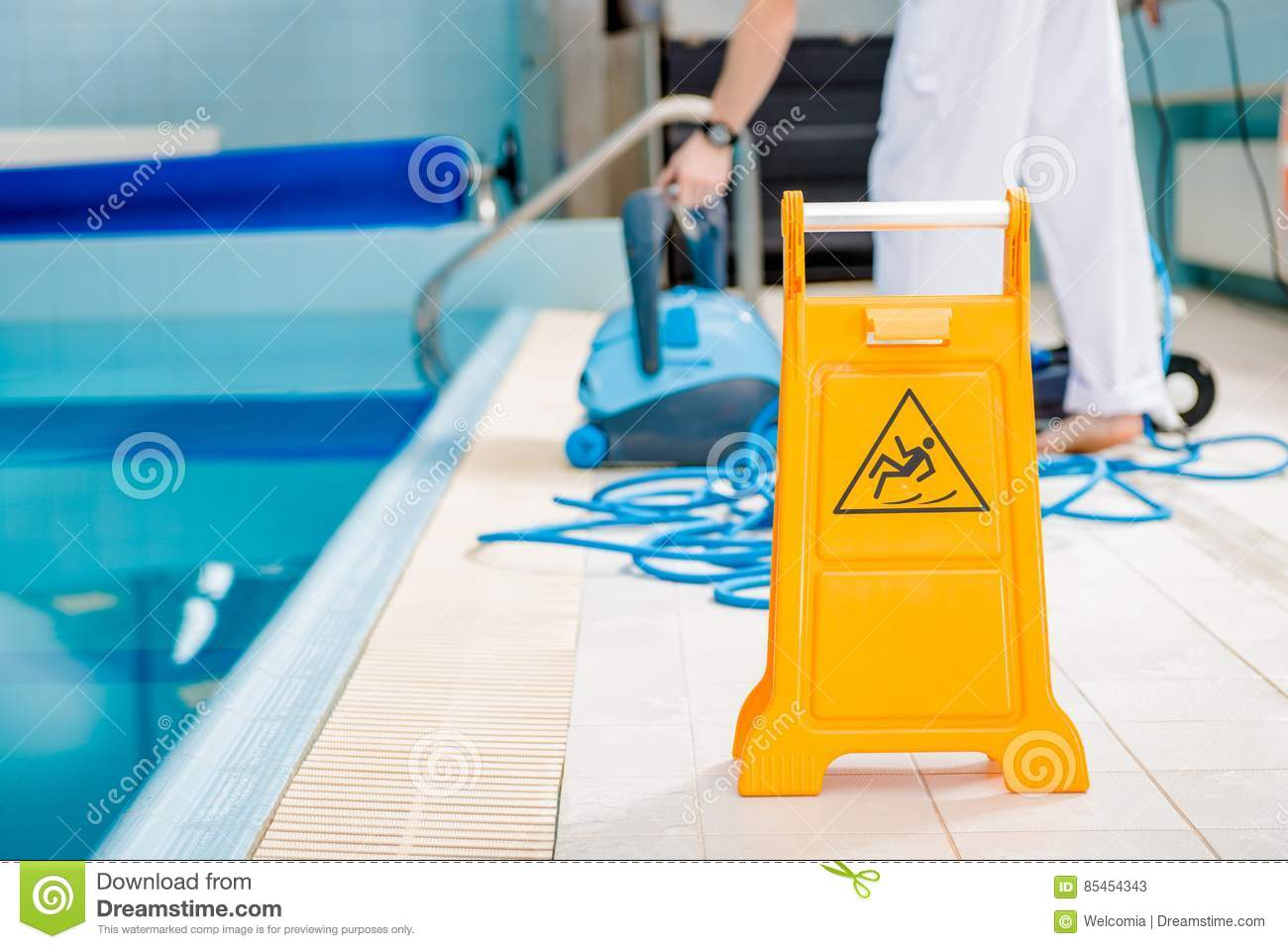 Swimming Pool Slippery Floor Stock Image Image Of Workplace - Tile floor slippery after cleaning