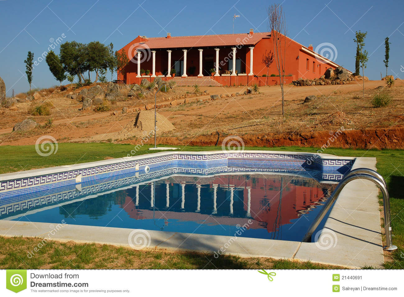 Swimming Pool In A Spanish Rural Hotel Stock Image Image 21440691
