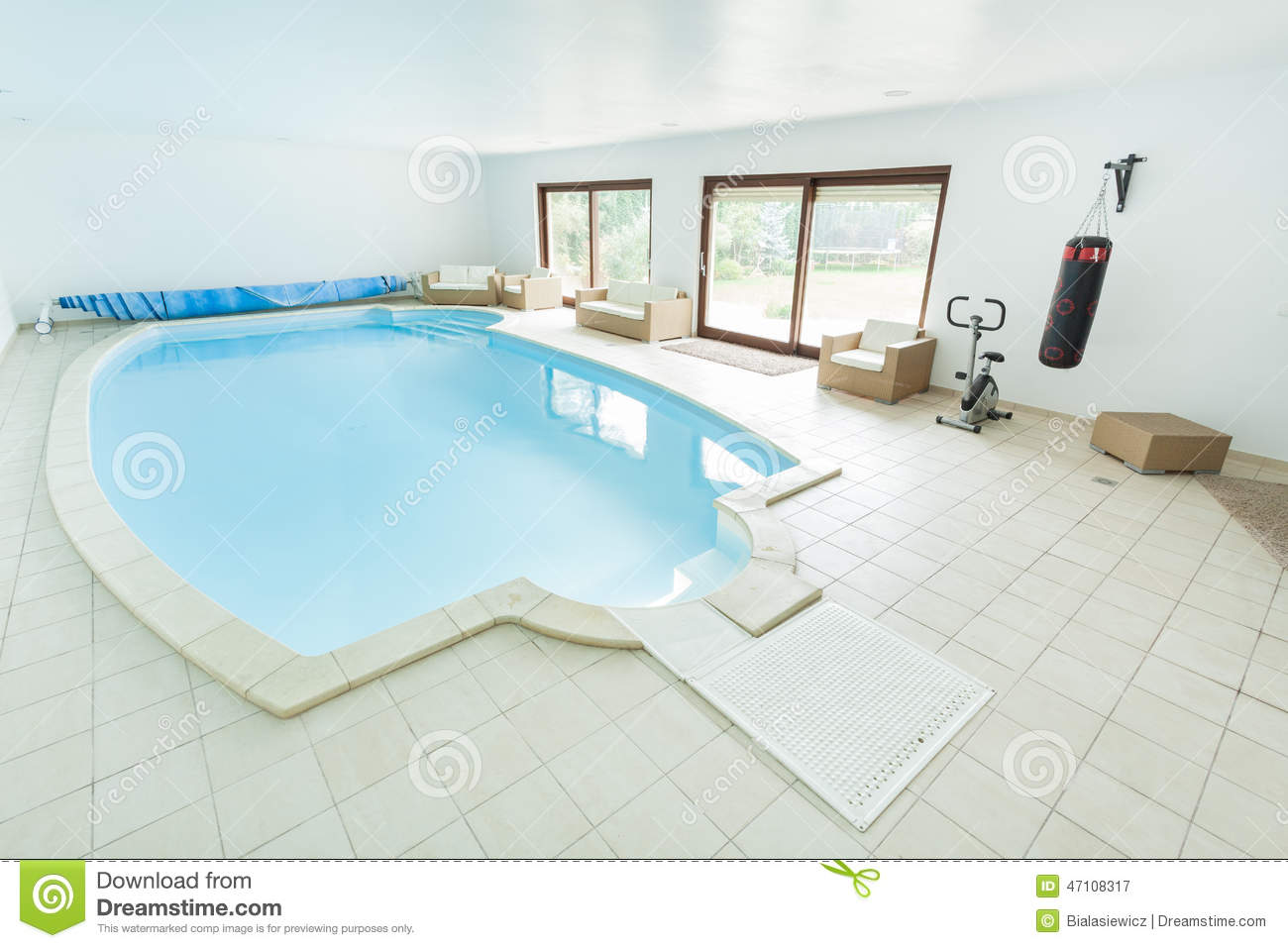 Swimming Pool And Sporty Equipment Stock Photo Image 47108317