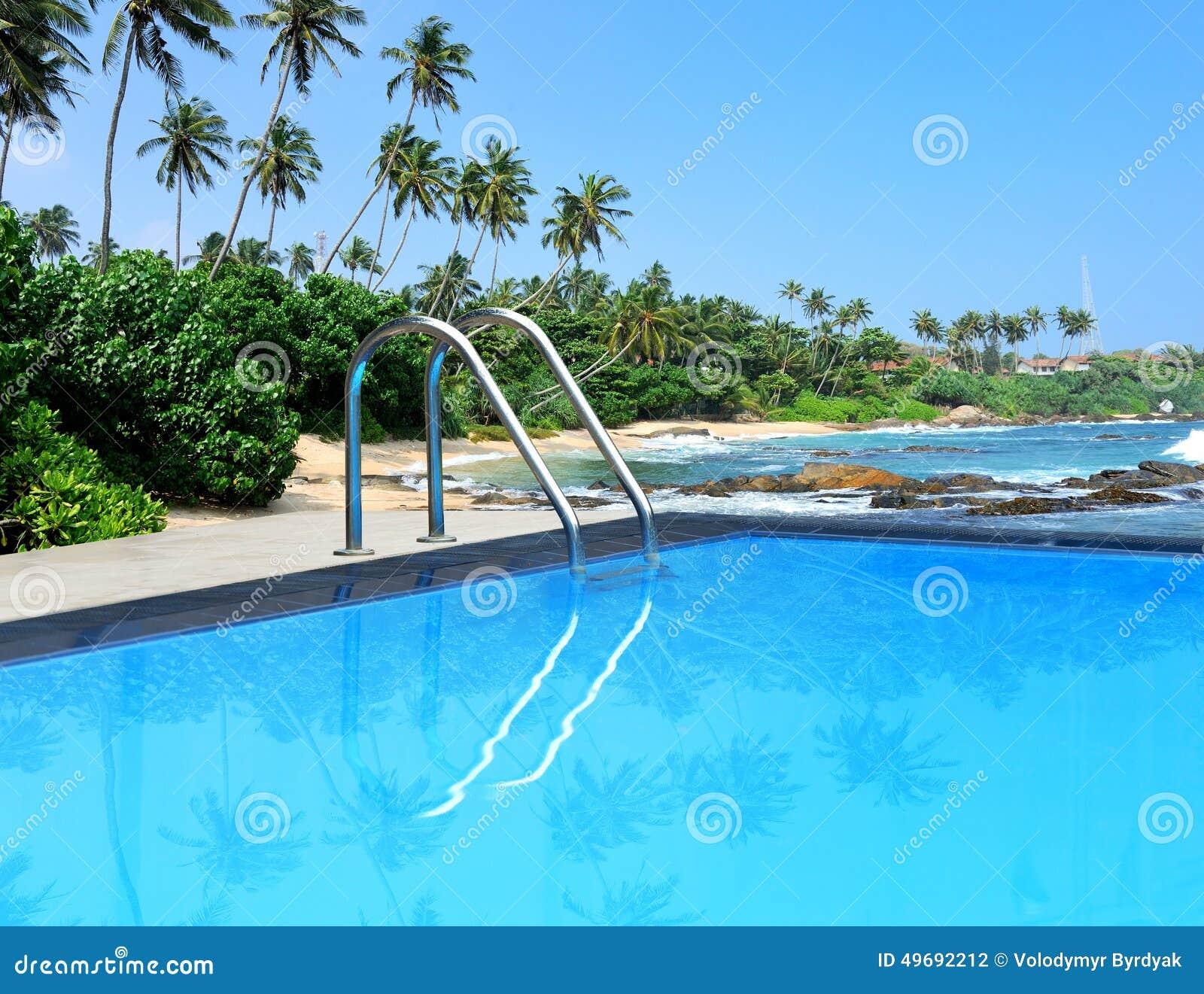 Swimming Pool Stock Photo Image Of Outdoor Beach Ocean 49692212