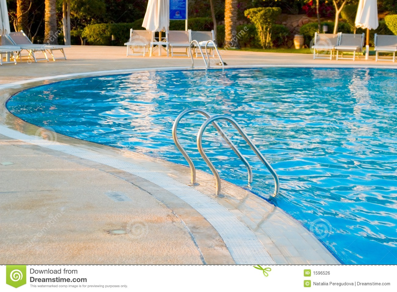 Swimming Pool Stairs Royalty Free Stock Image - Image: 1596526