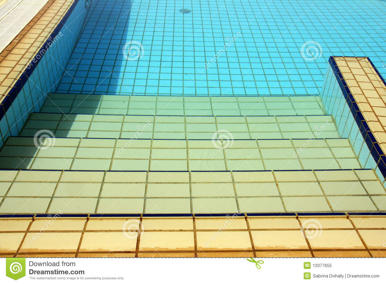 Swimming Pool Stairs Water Amp Tiles Royalty Free Stock