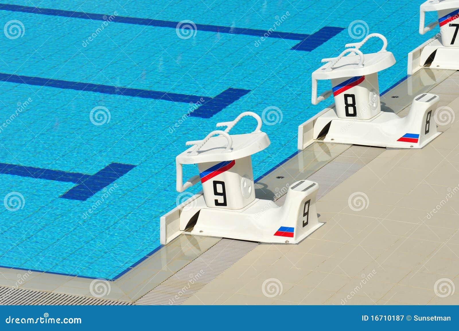 Swimming Pool Starting Block Stock Image - Image of size ...