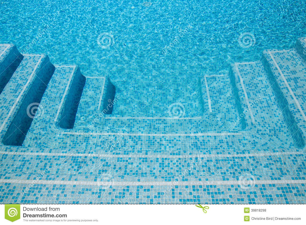 Swimming Pool Steps Stock Photo Image Of Activity Blue