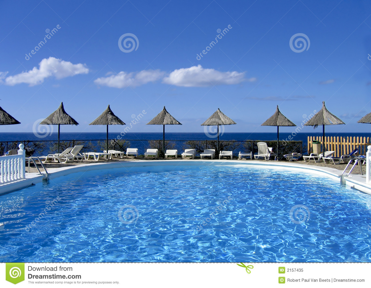 Swimming Pool With Sun Shades Stock Image - Image of shade ...