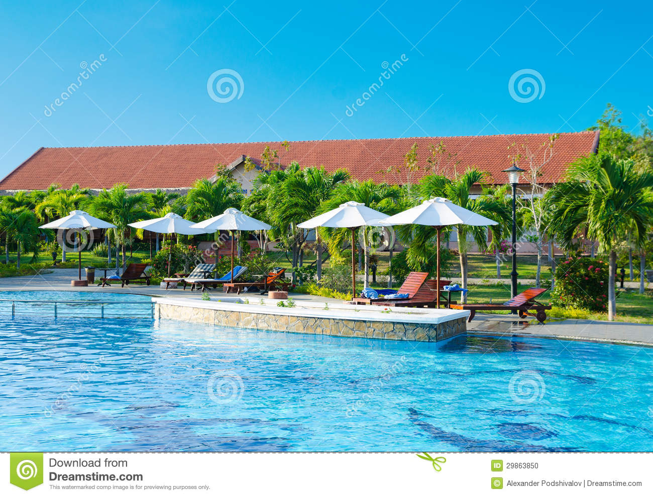 Swimming pool near hotel stock photo image 29863850 for Cheap swimming pools near me