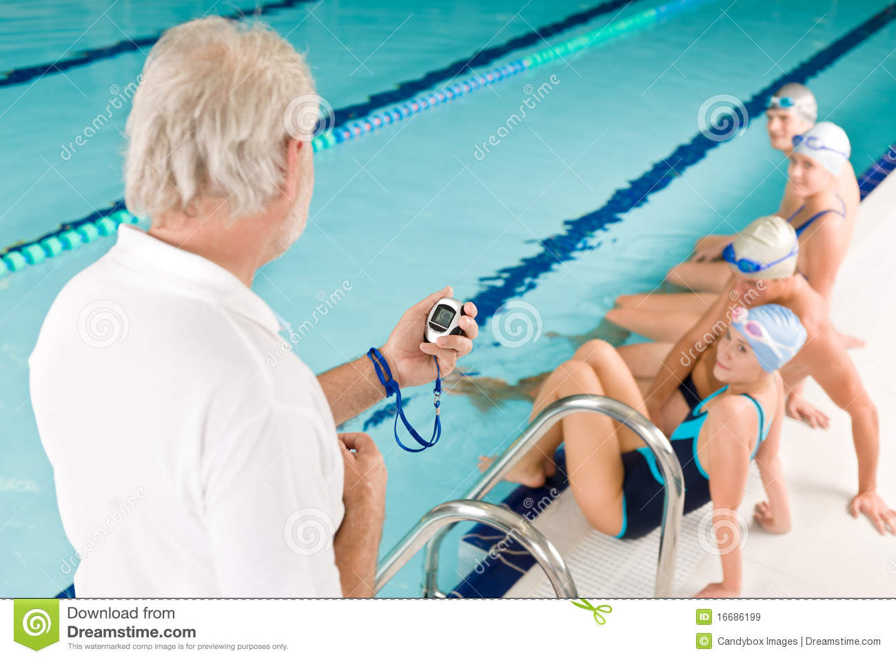 Swimming pool swimmer training competition stock image image 16686199 for Swimming pool certification course