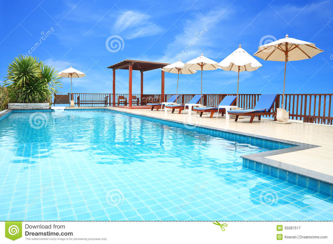Swimming Pool On Top Of Roof Deck Stock Image Image 35087517