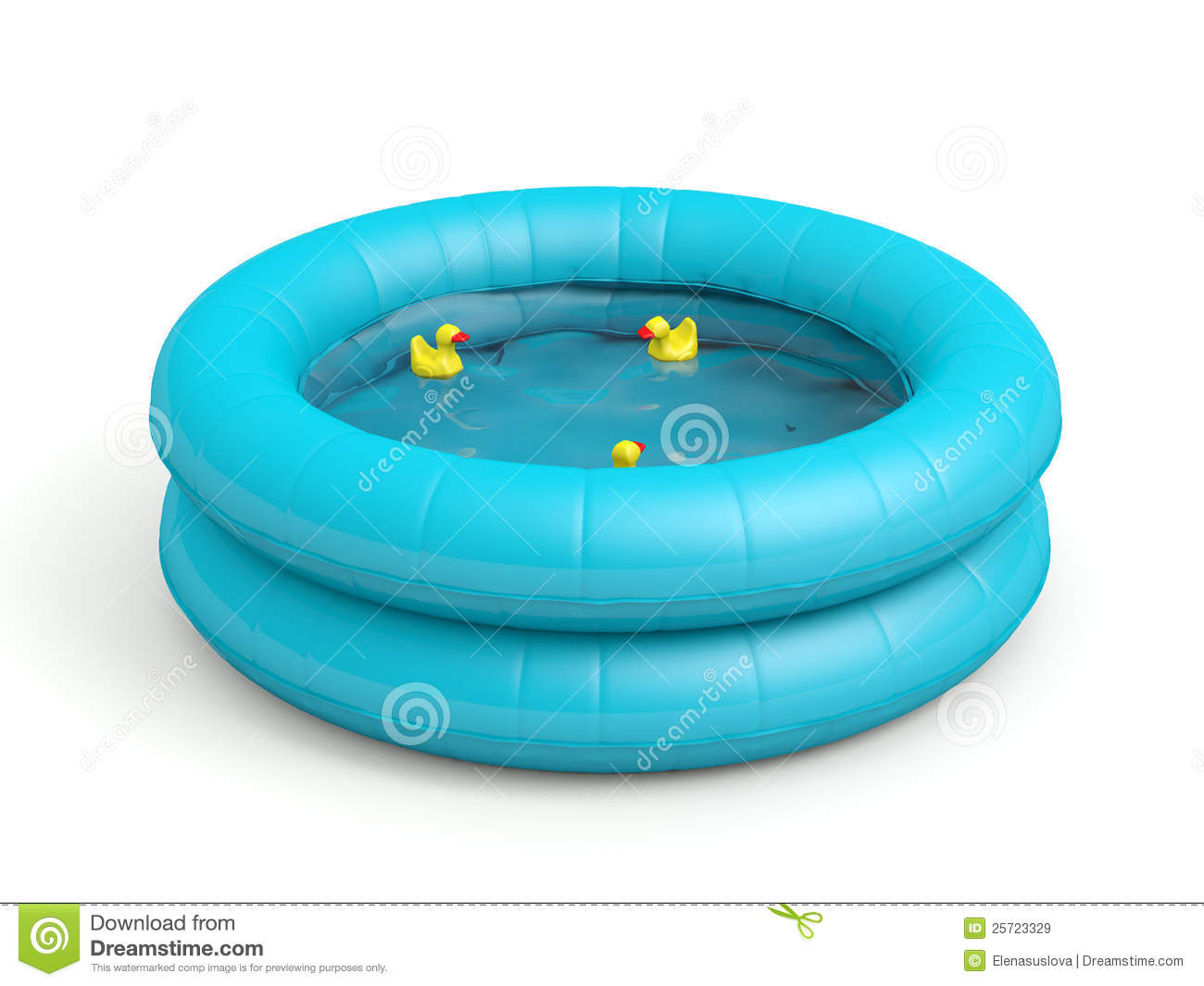 Air Mattress Blower Swimming Pool With Toy Ducks Royalty Free Stock Images - Image ...