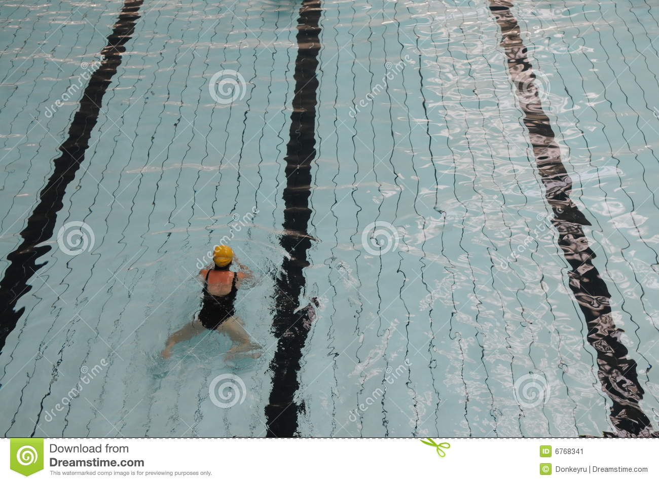 The Swimming Pool Track Stock Image Image Of Swimming 6768341