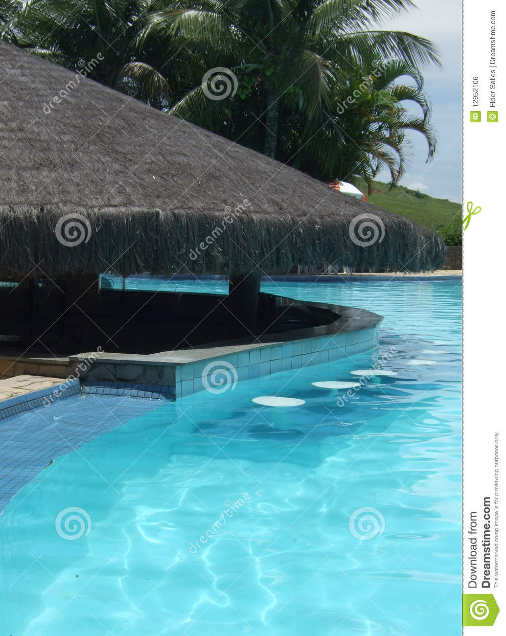 Free Swimming Pool: Swimming Pool In A Tropical Country Stock Photo