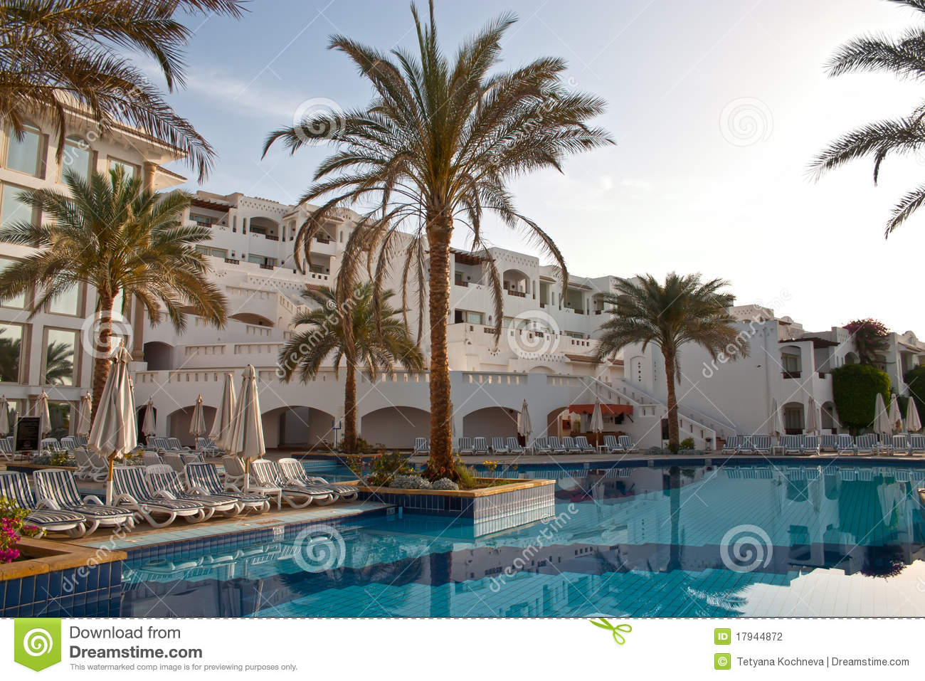 Swimming pool in tropical hotel stock photography image for Pool design dessau