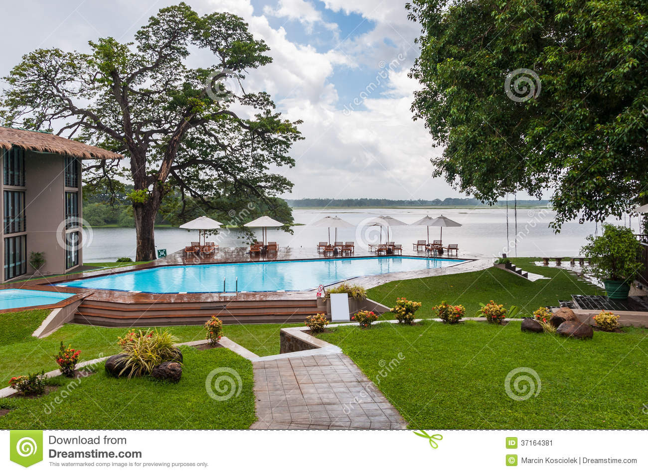 Swimming Pool In A Tropical Hotel Stock Image Image 37164381
