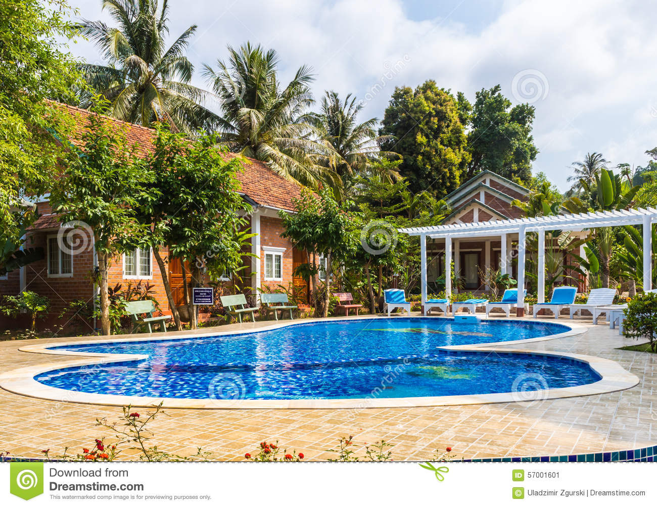 Swimming Pool At The Tropical Hotel In Vietnam Stock Photo Image 57001601
