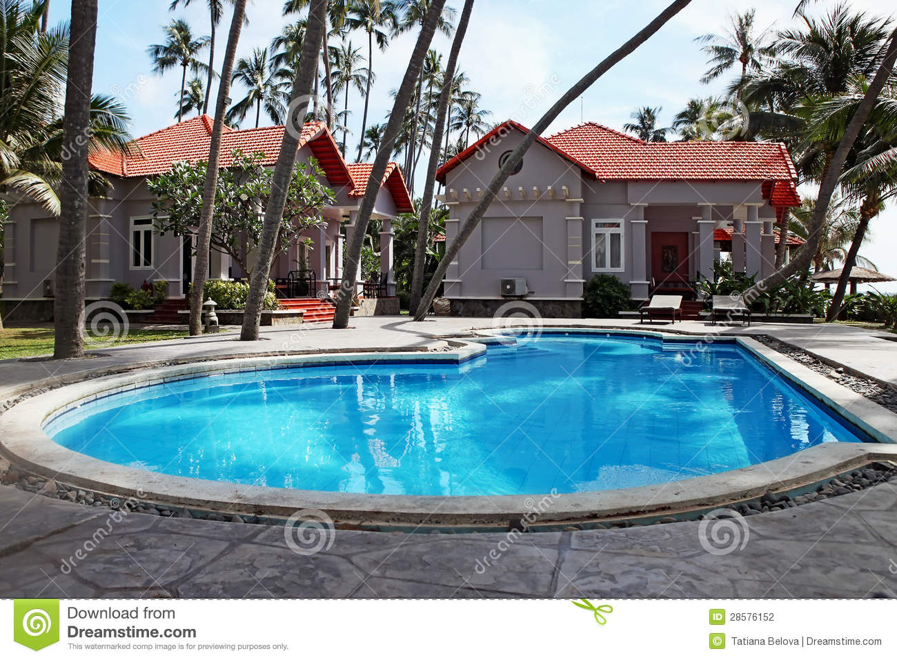 Swimming Pool At Tropical Resort Stock Photography Image 28576152