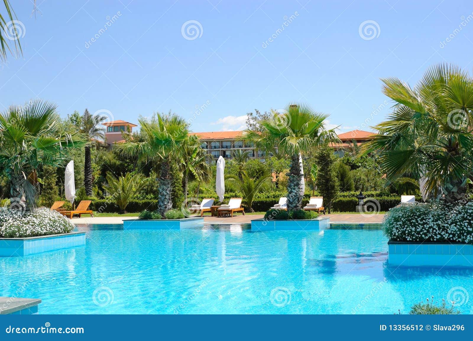 Swimming Pool At Turkish Hotel Stock Photo Image 13356512