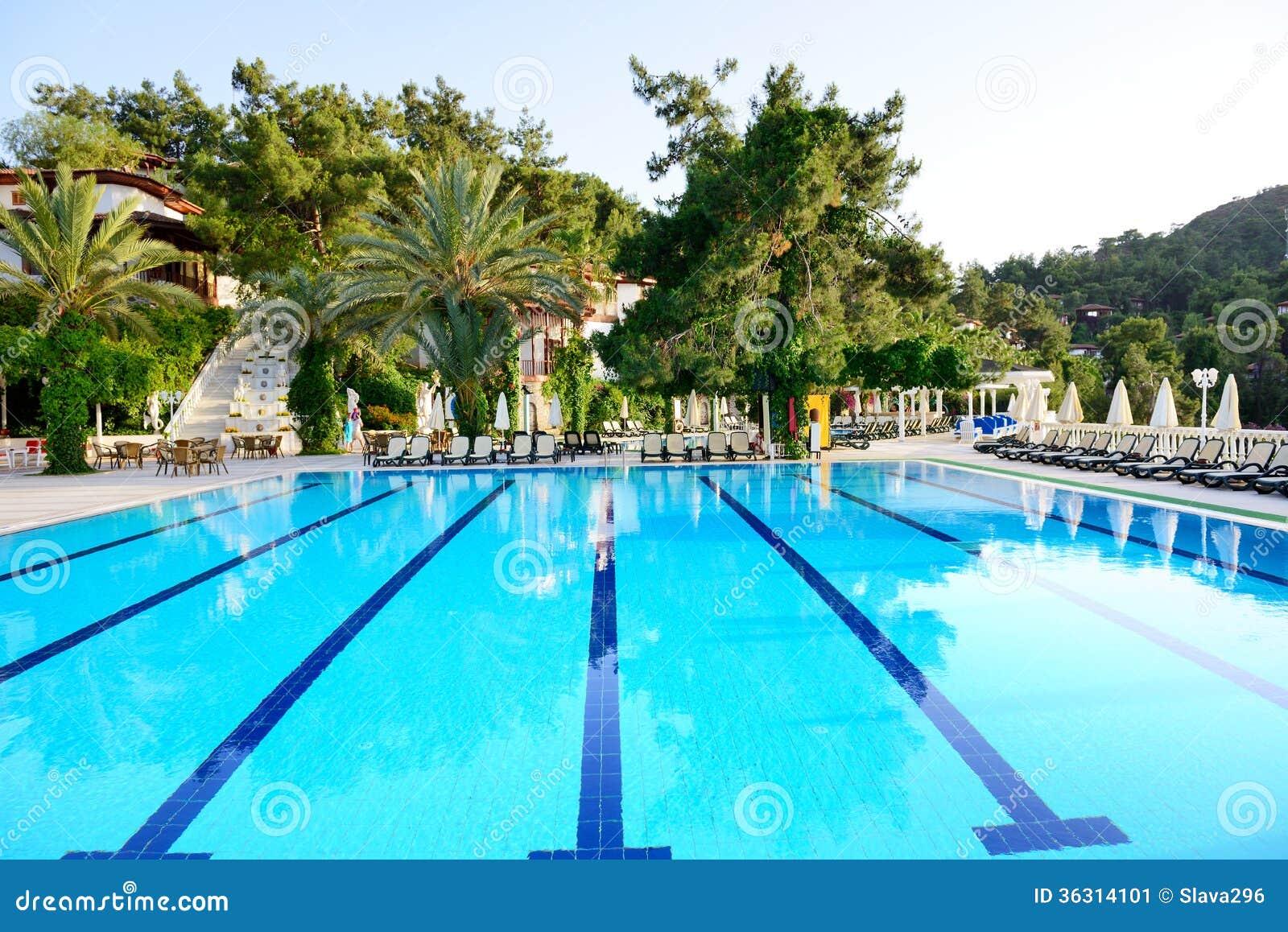 Swimming Pool On Turkish Resort Stock Image Image 36314101
