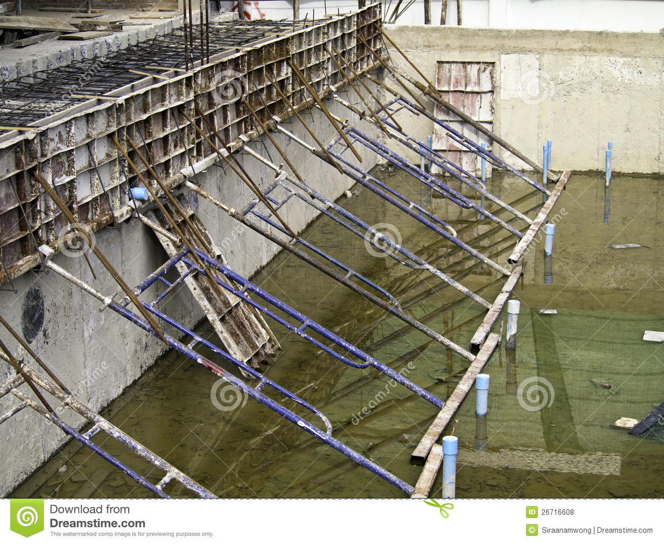 Swimming pool under construction royalty free stock photos for Swimming pool installation companies