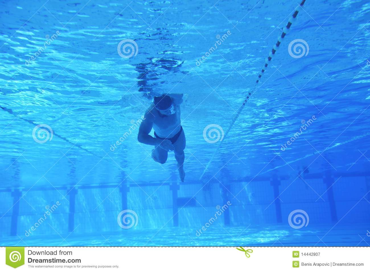 Swimming Pool Underwater Royalty Free Stock Photography