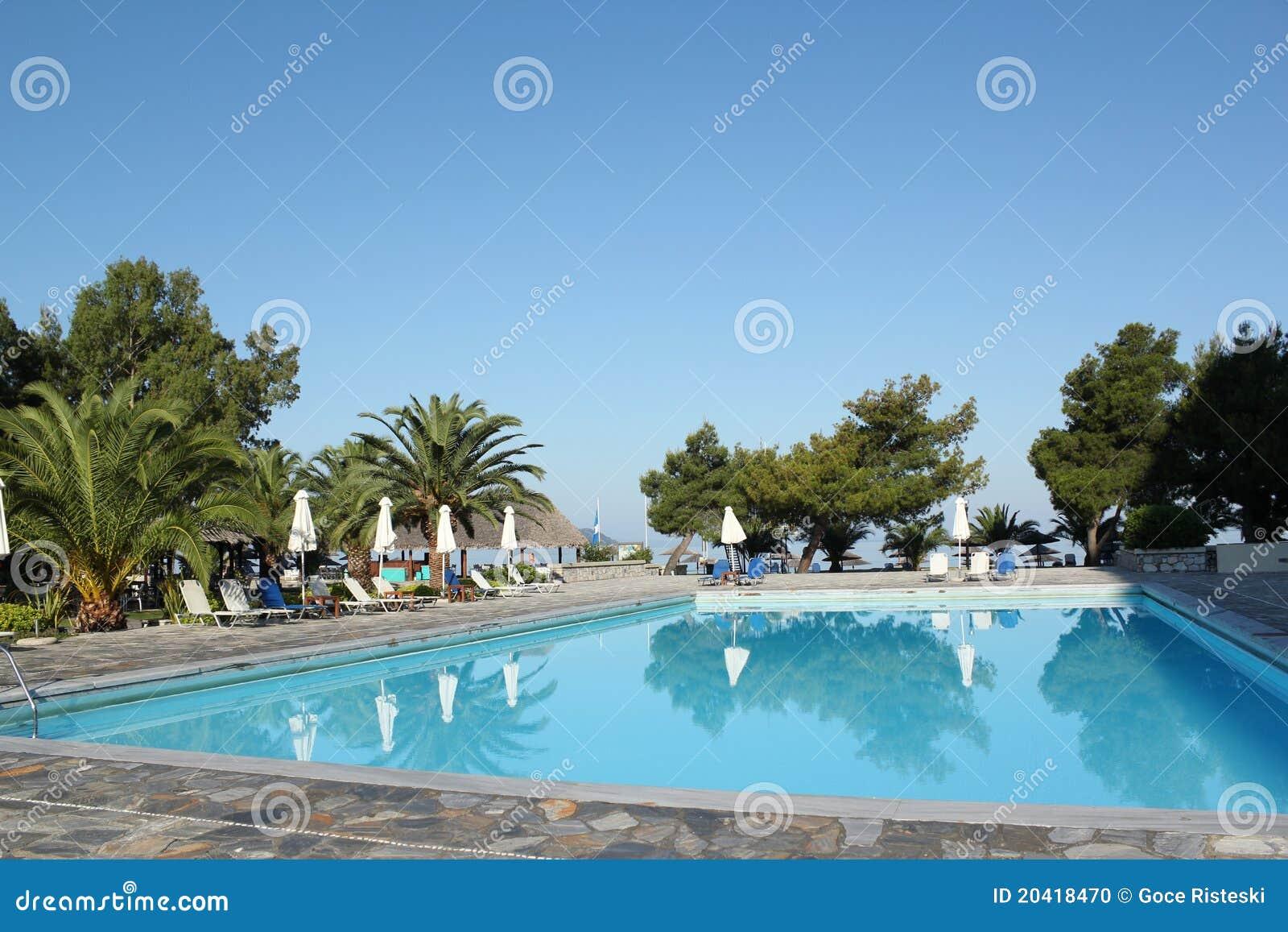 Swimming Pool Vacation Scene Stock Photo Image 20418470