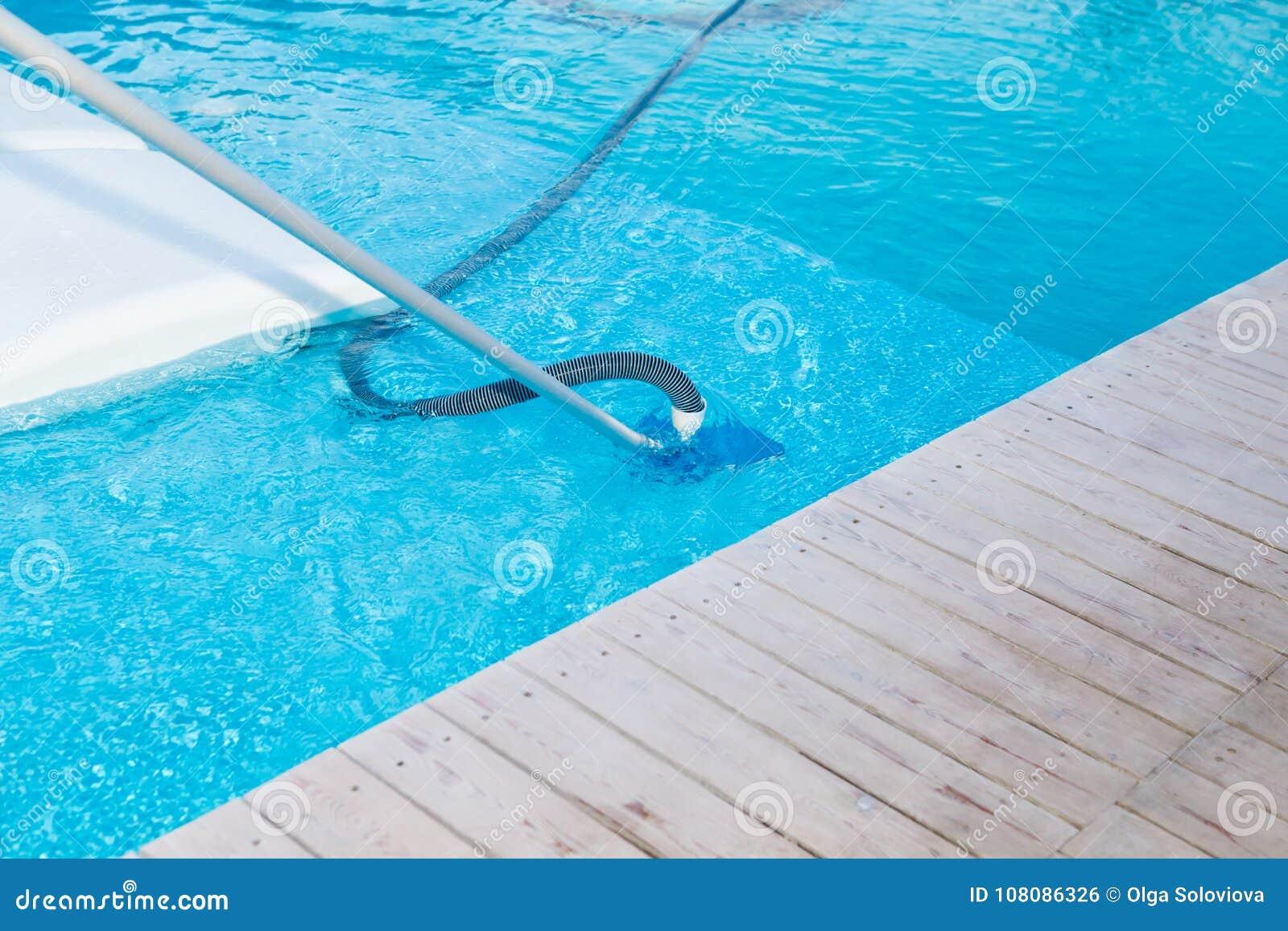 Swimming Pool Vacuum Cleaner Stock Photo - Image of aqua ...