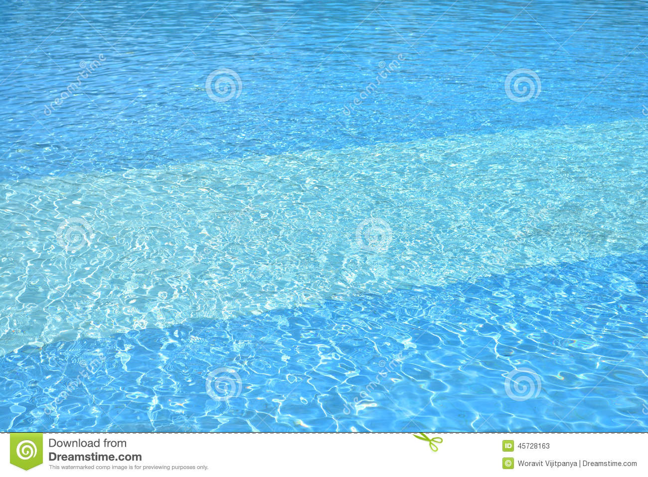 Swimming Pool Water Stock Photo Image 45728163