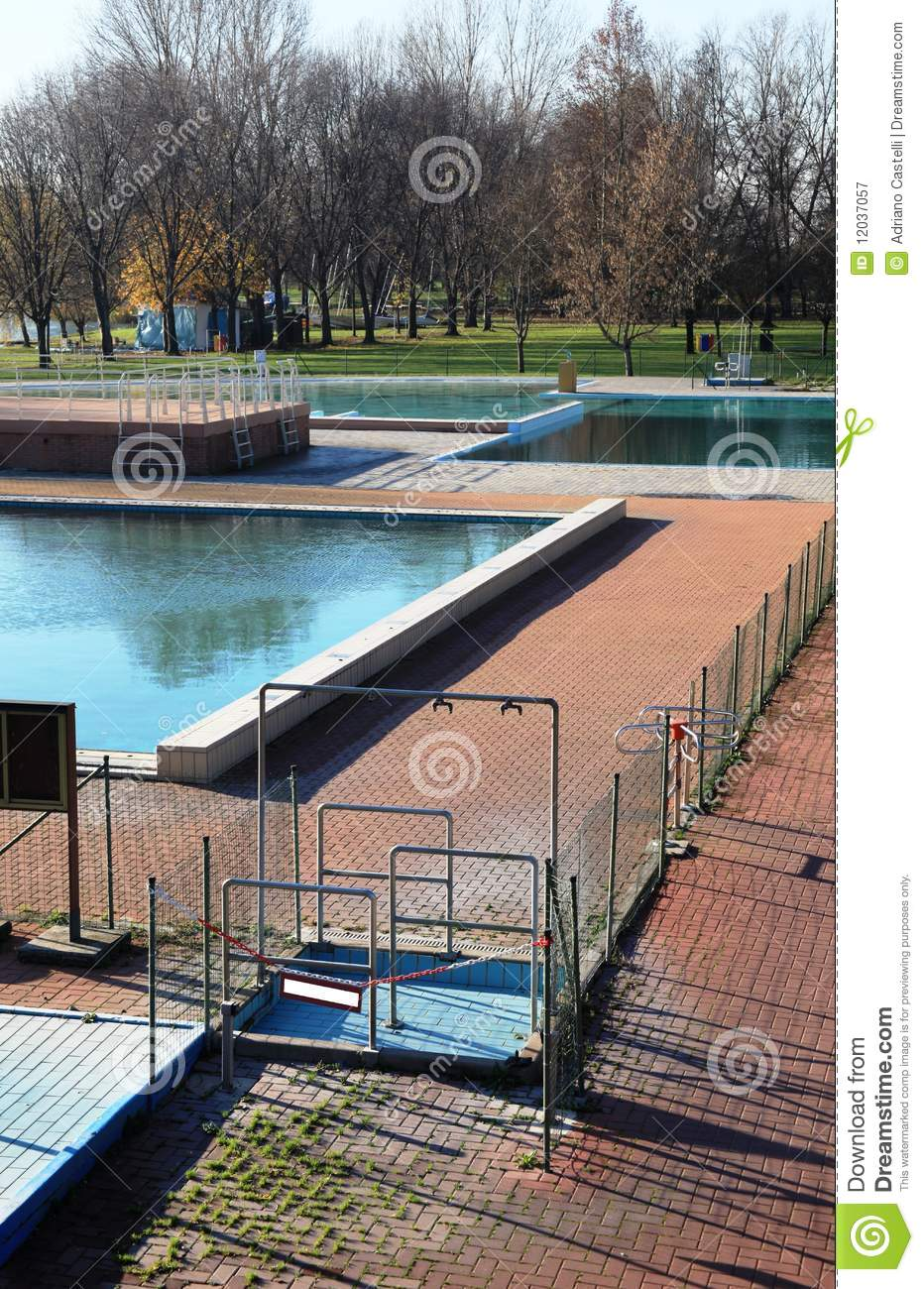 Swimming Pool On Winter Royalty Free Stock Photography Image 12037057