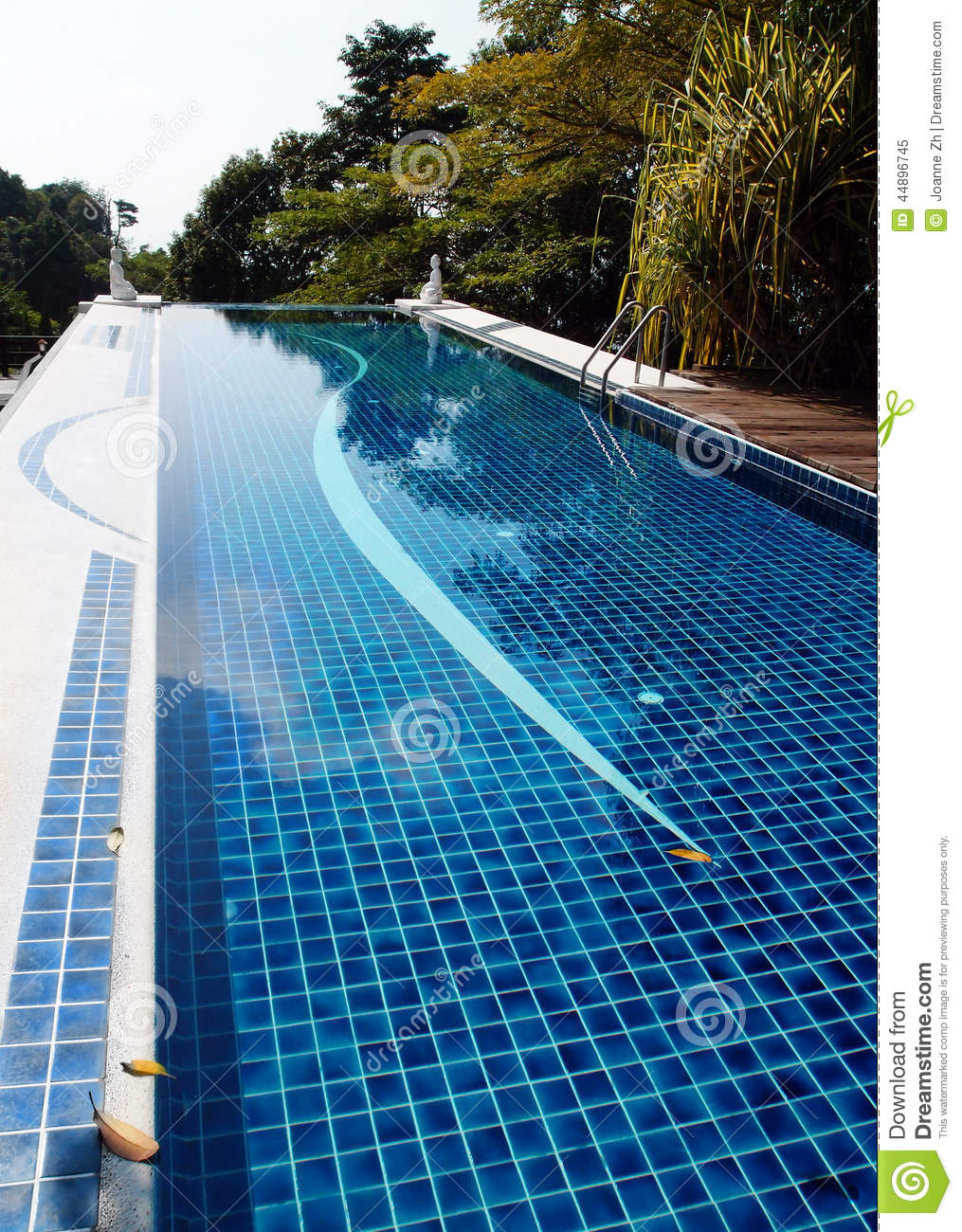 Swimming pool zen style design stock image image 44896745 for Zen pool design