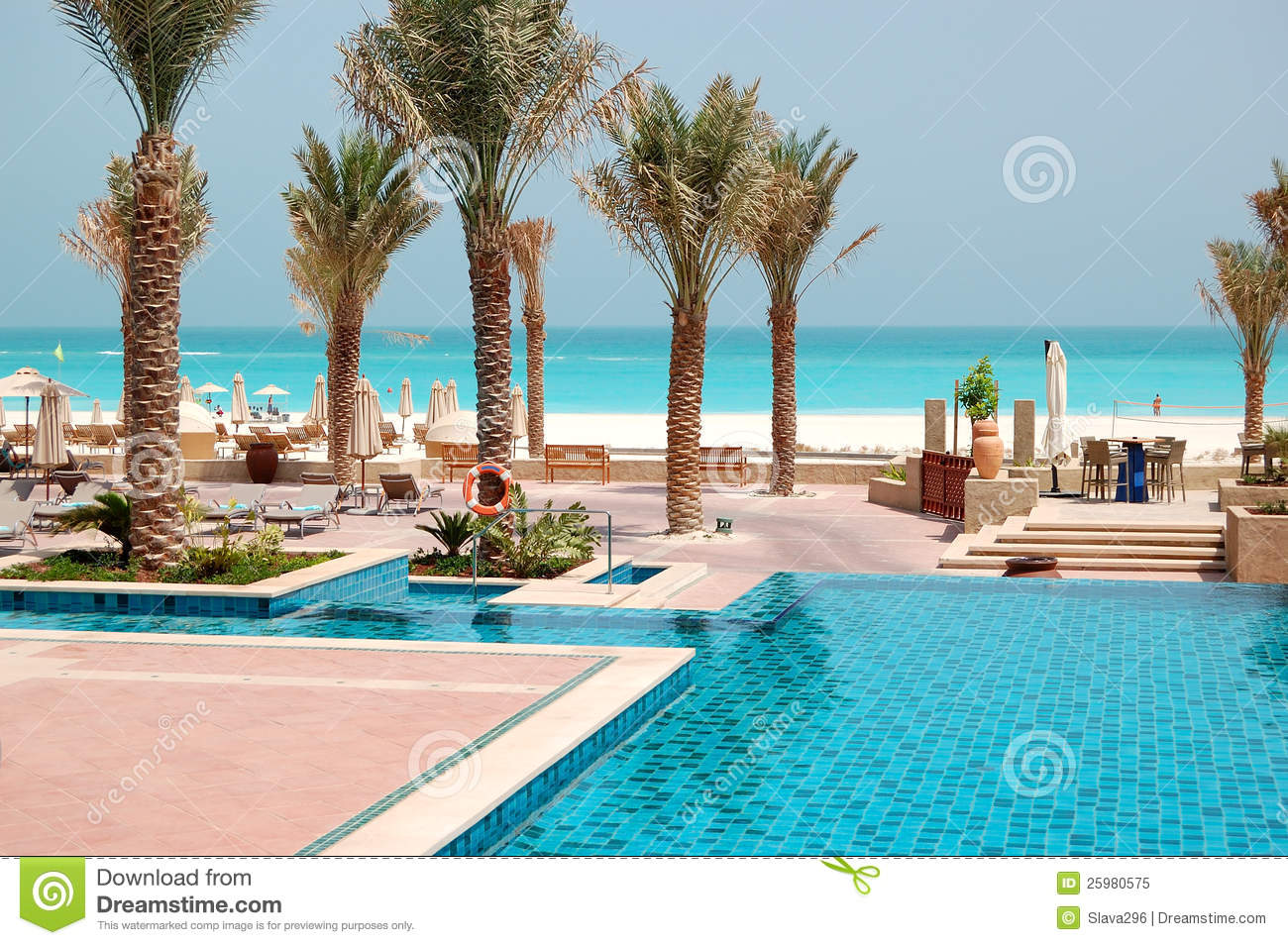 Swimming Pools At The Luxury Hotel Royalty Free Stock Photo Image 25980575