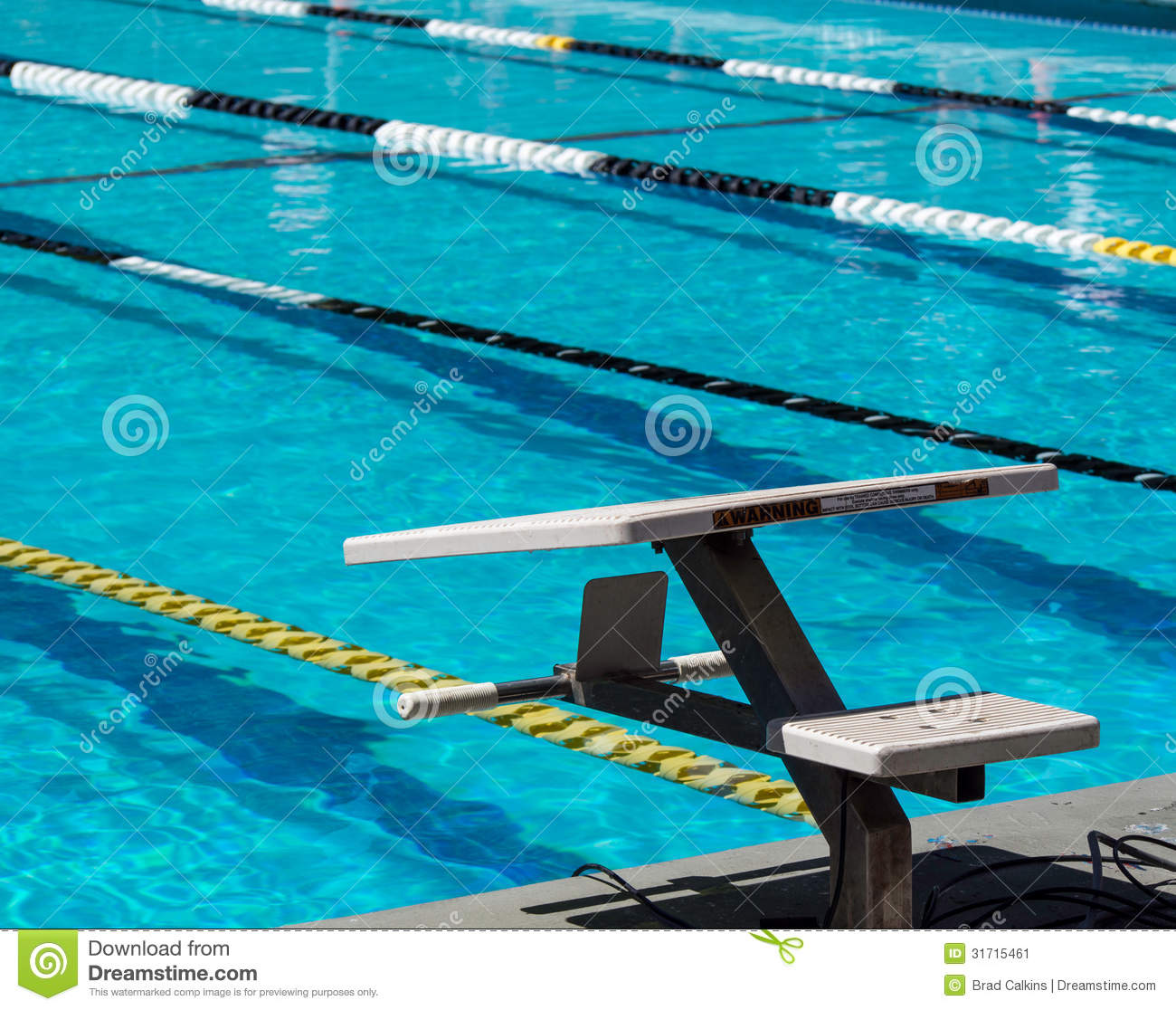 swimming starting blocks stock image image of lanes 31715461