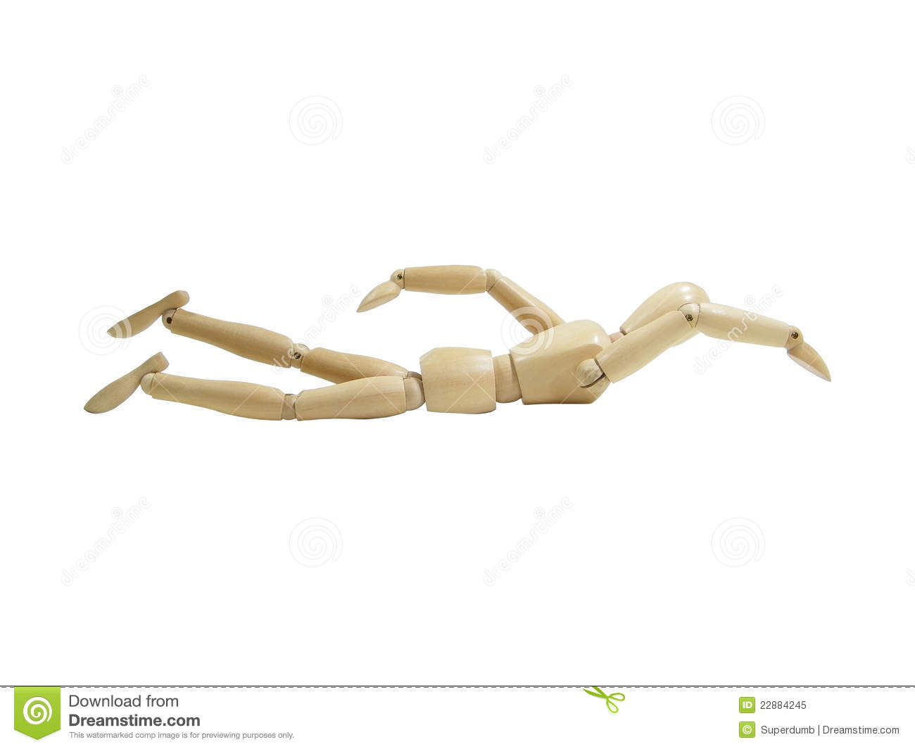 Swimming Wood Puppet Royalty Free Stock Photo - Image ...