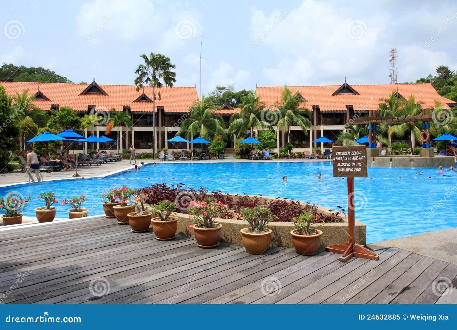 Swimmingpool in der Rücksortierung
