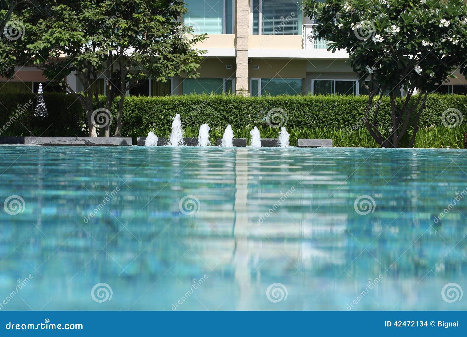 Swimmingpool und Garten