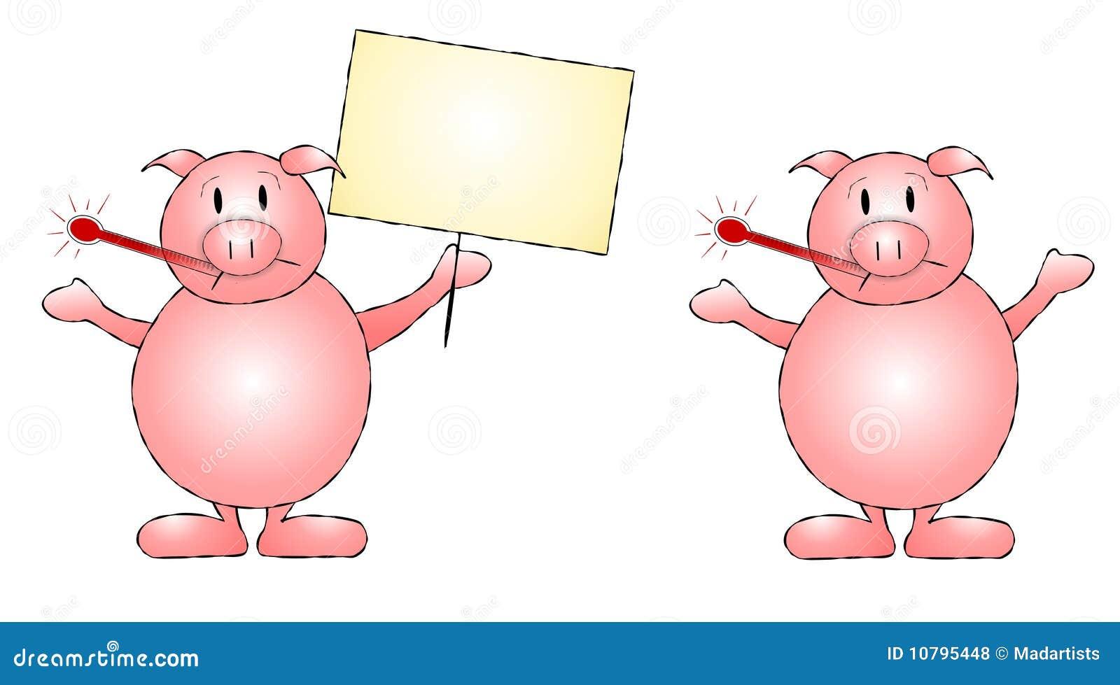 Swine Flu Pigs Clip Art