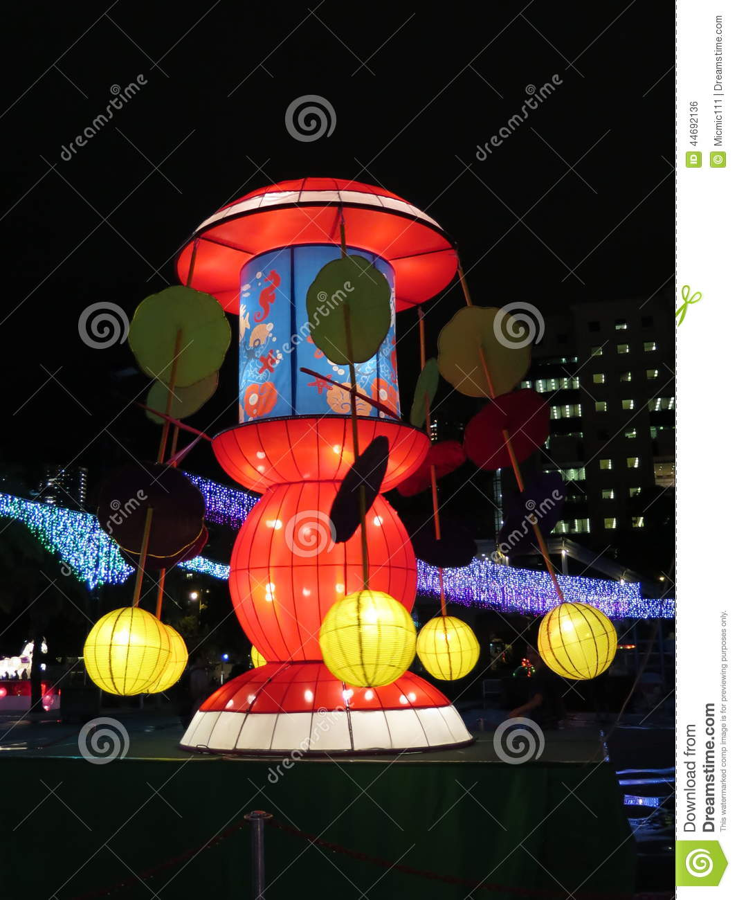 Swing Chinese Lantern - Mid Autumn Festival Stock Photo ... Chinese Lantern Clipart