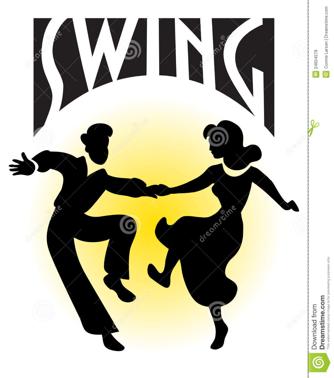 Swing Dance Couple Eps Royalty Free Stock Images Image