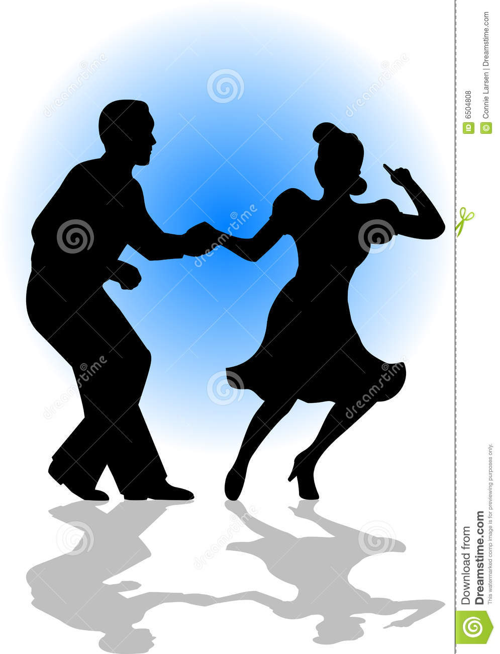 Swing Dance Silhouette Swing dancing couple/eps