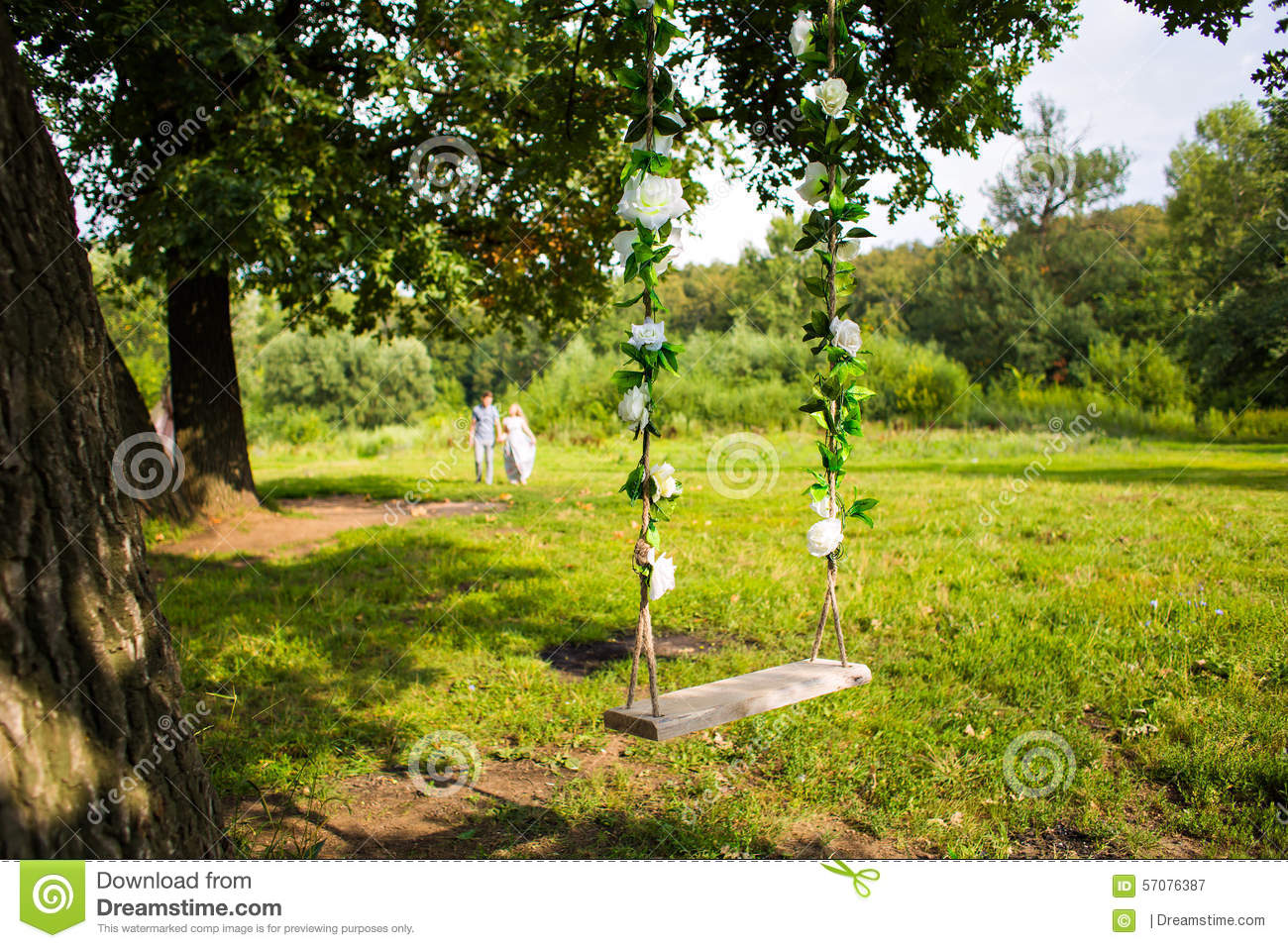 Swing On A Tree Stock Photo - Image: 57076387