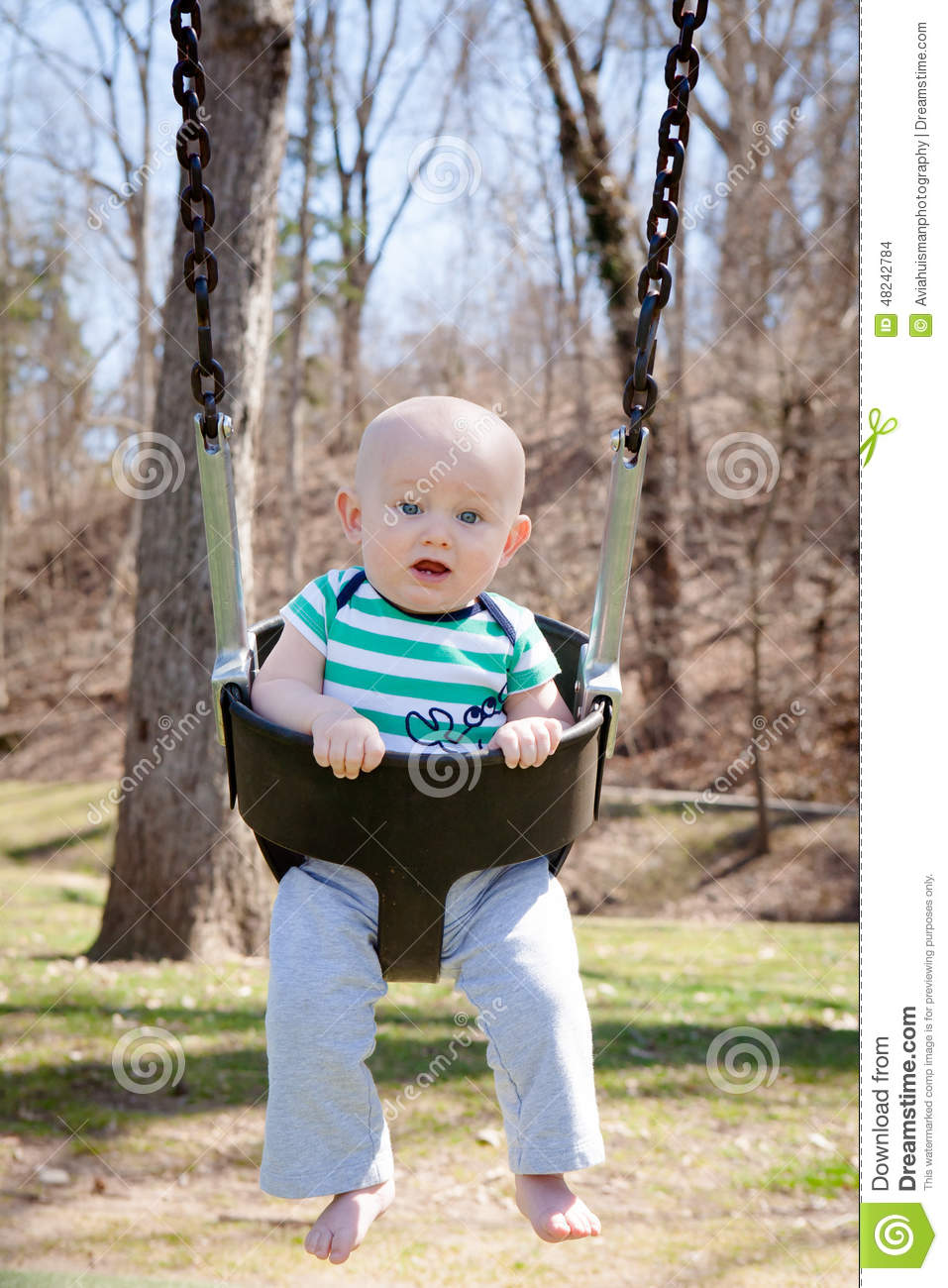 Swinging the baby
