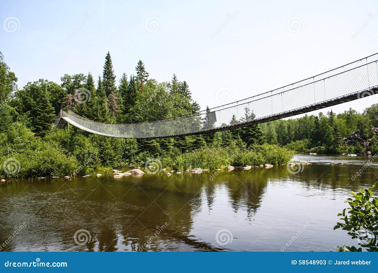 Bridge dam swinging