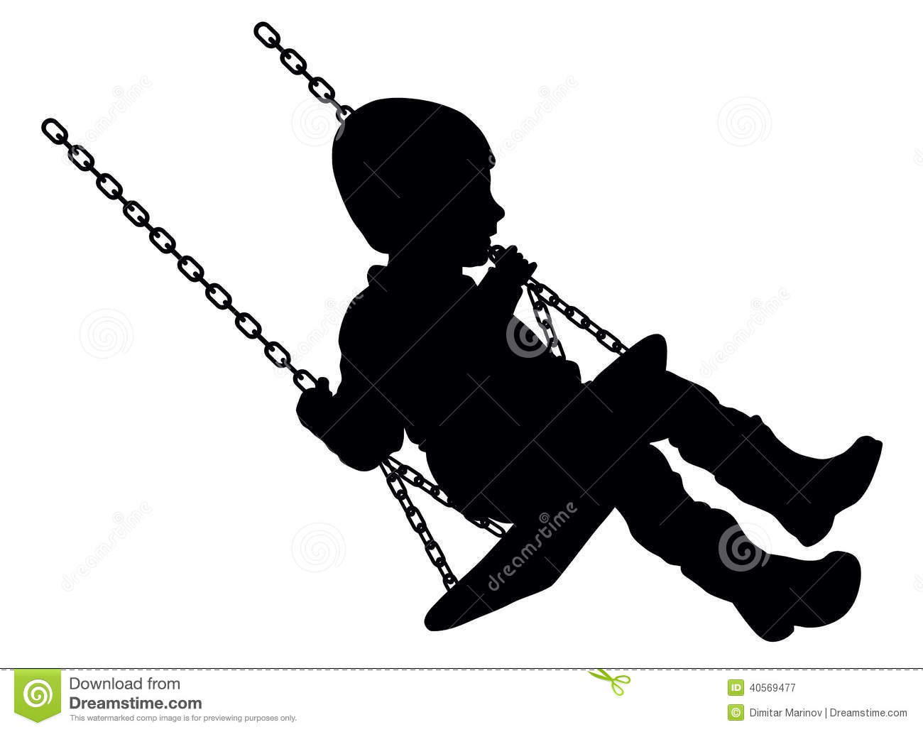 Swinging Child Stock Vector - Image: 40569477
