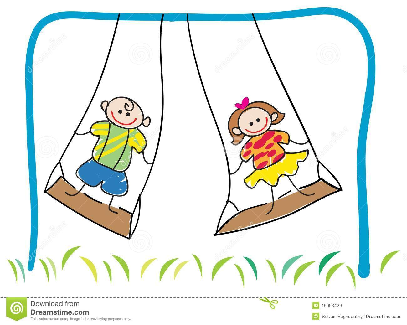 action verb slideshow lessons teach swinging children royalty stock images image 15093429