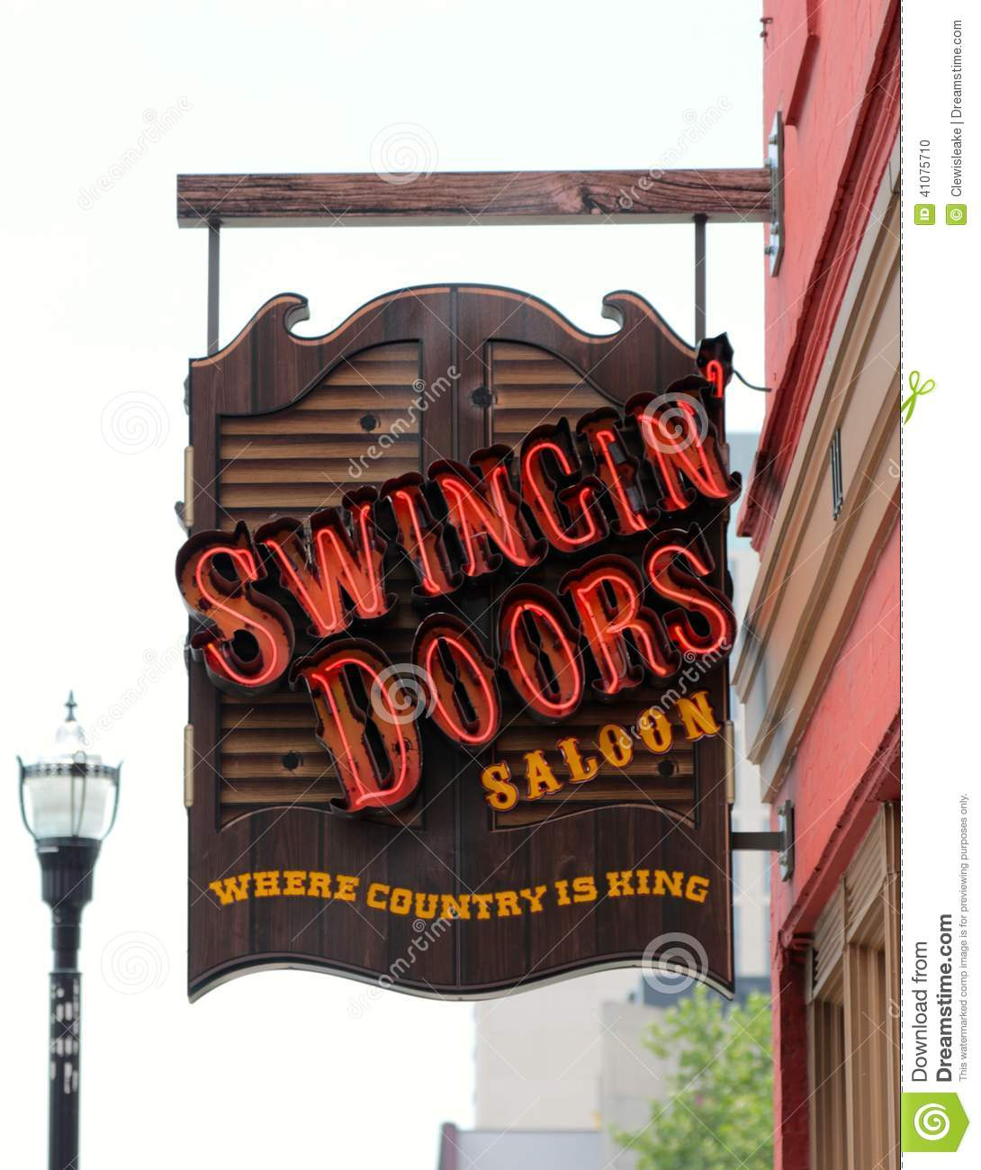 Swinging Doors Saloon Bar and Resturant Downtown Nashville Tennessee  sc 1 st  Dreamstime.com & Swinging Doors Saloon Bar And Resturant Downtown Nashville ...