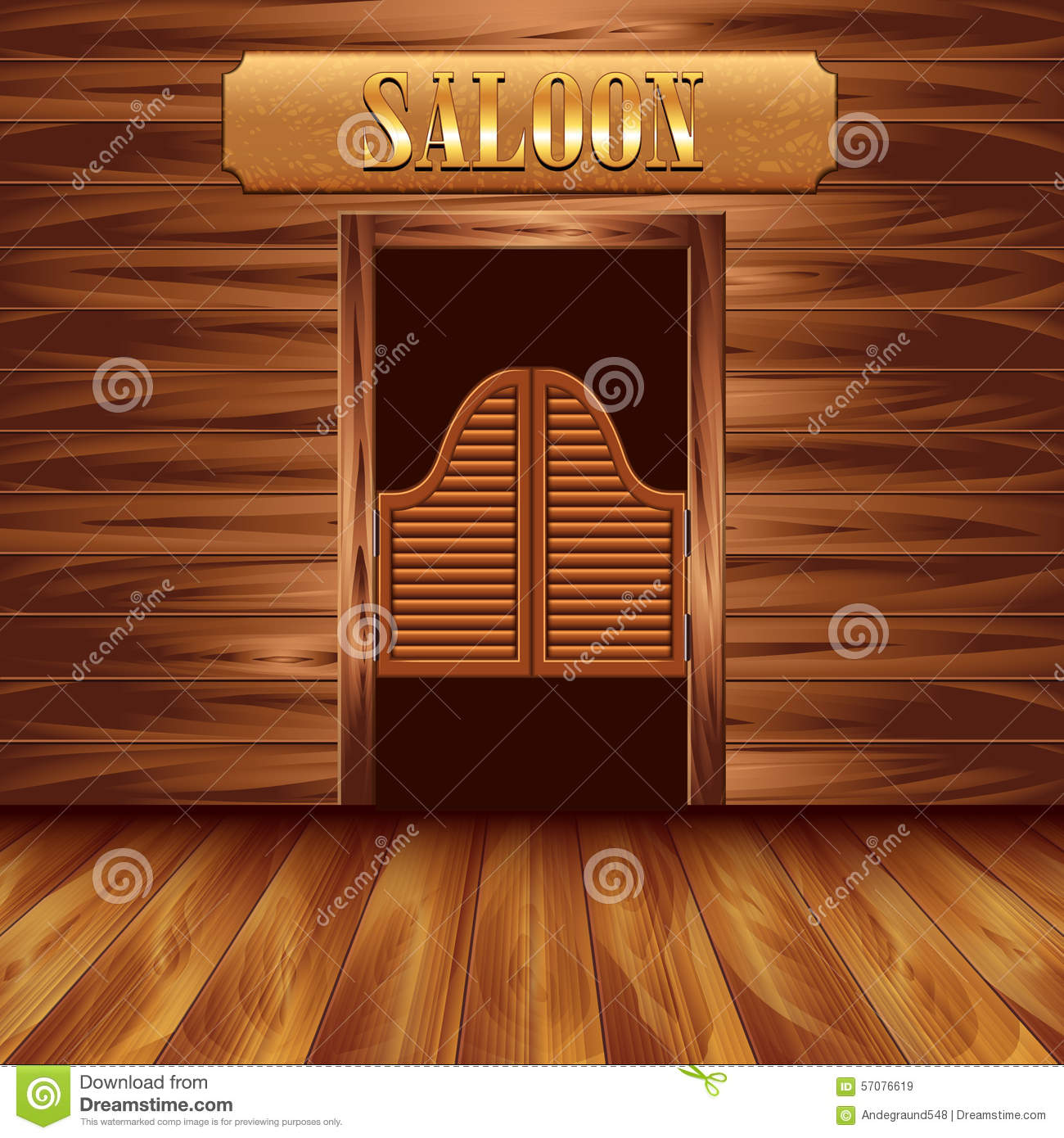 Animation of swinging doors