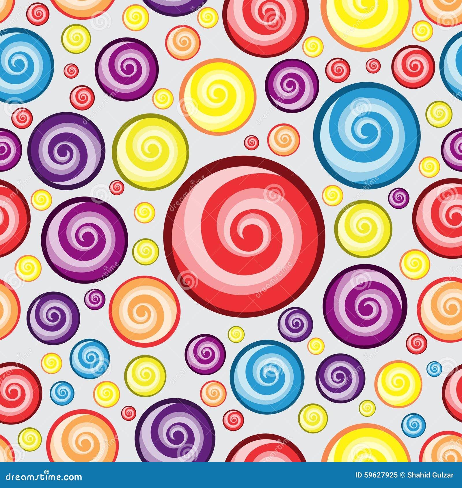 Aninimal Book: Swirl Circle Background Pattern Design Stock Illustration ...