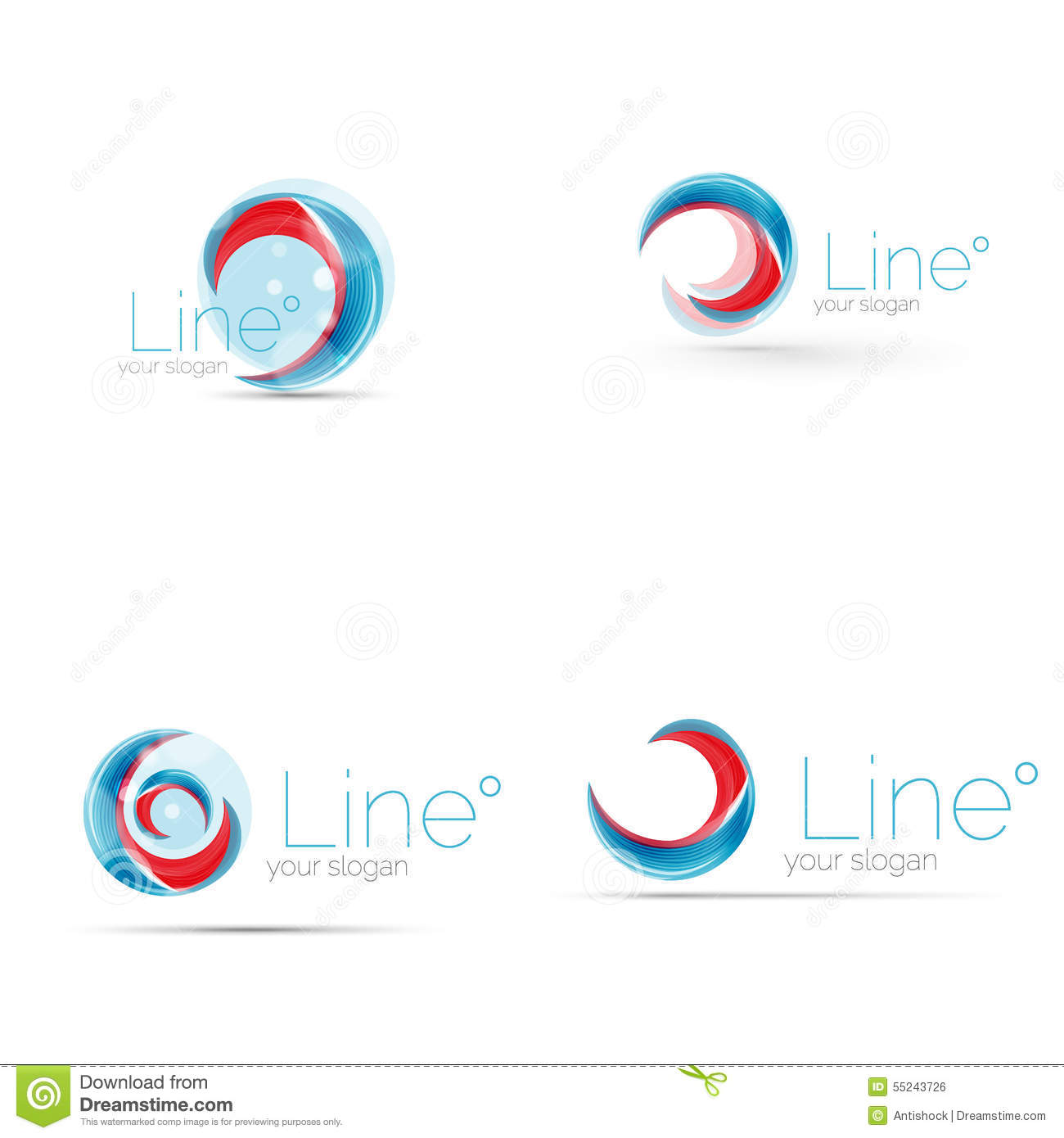 Swirl Company Logo Design Stock Vector Illustration Of Blue 55243726