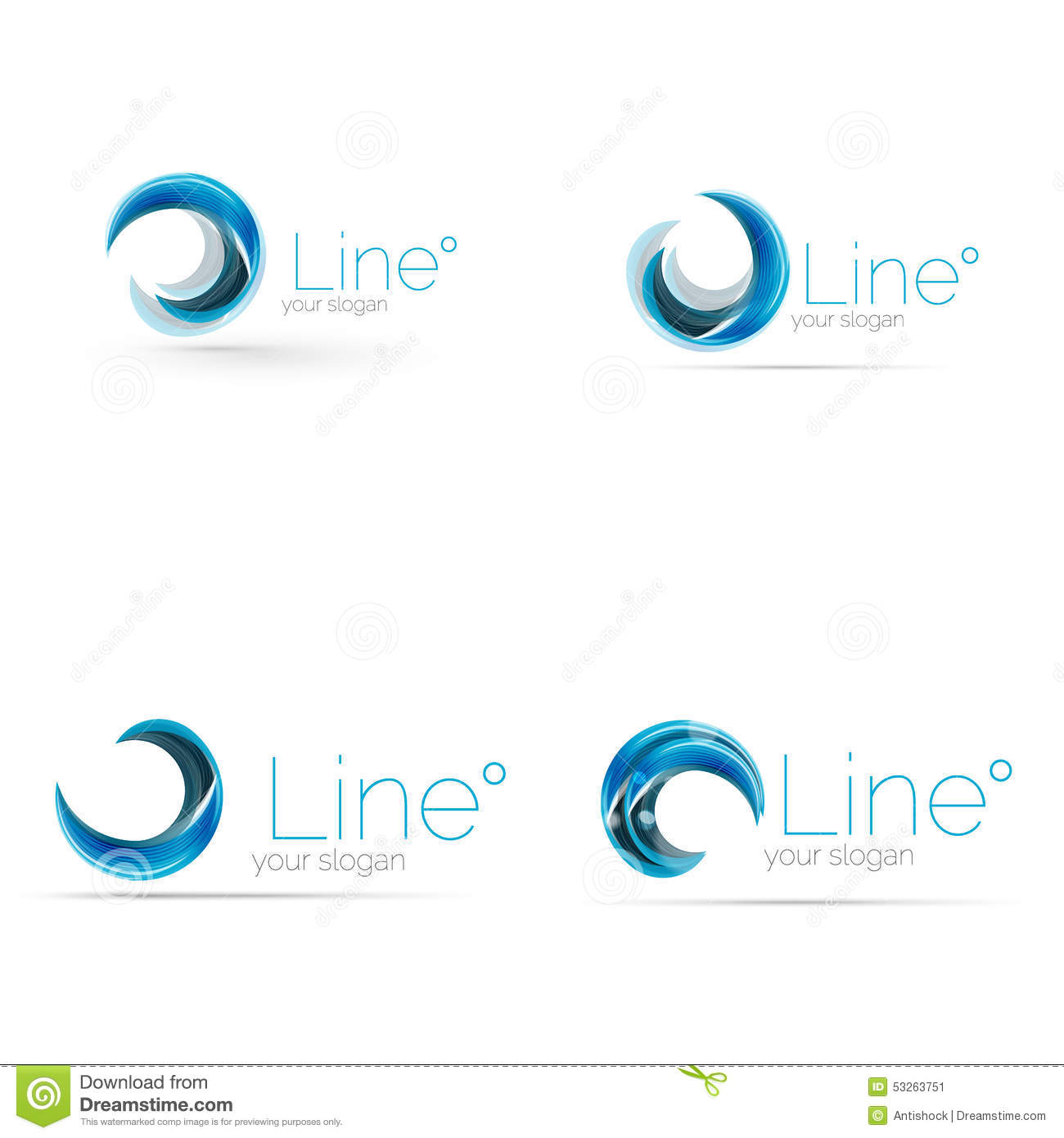 Swirl Company Blue Logo Design Universal For All Ideas And Concepts